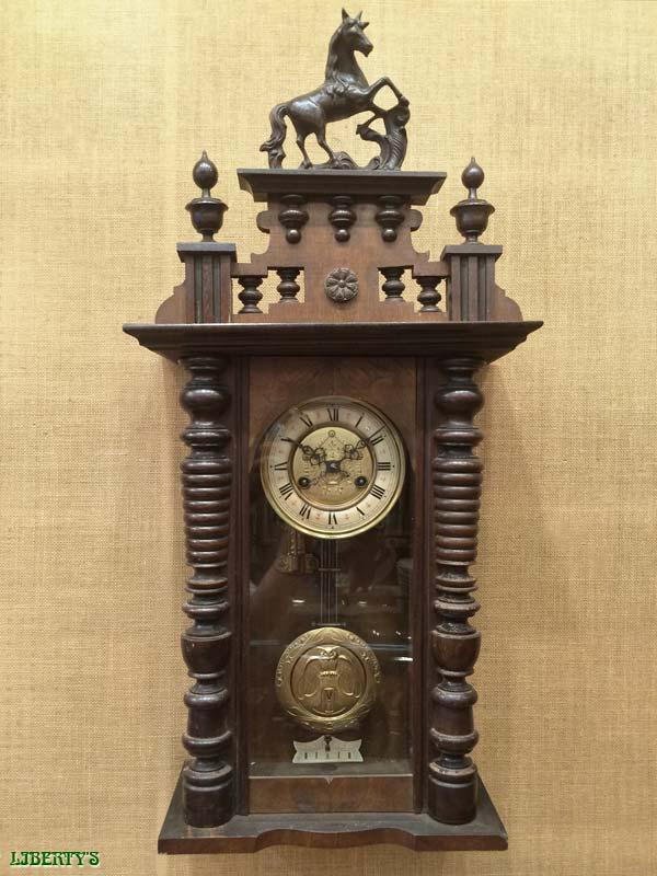 liberty 39 s antiques wooden clocks horloges en bois sold items 2 objets vendus 2. Black Bedroom Furniture Sets. Home Design Ideas