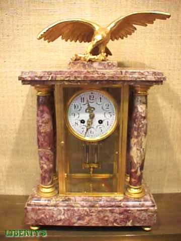 Liberty 39 s antiques columns clocks horloges colonnes sold items 2 objets vendus 2 for Grande pendule en bois