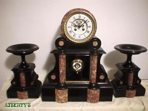 Liberty S Antiques Marble Clocks Horloges En Marbre